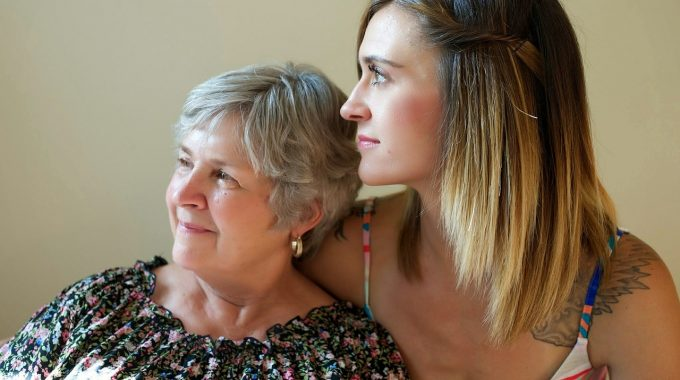 Senior Parent And Daughter