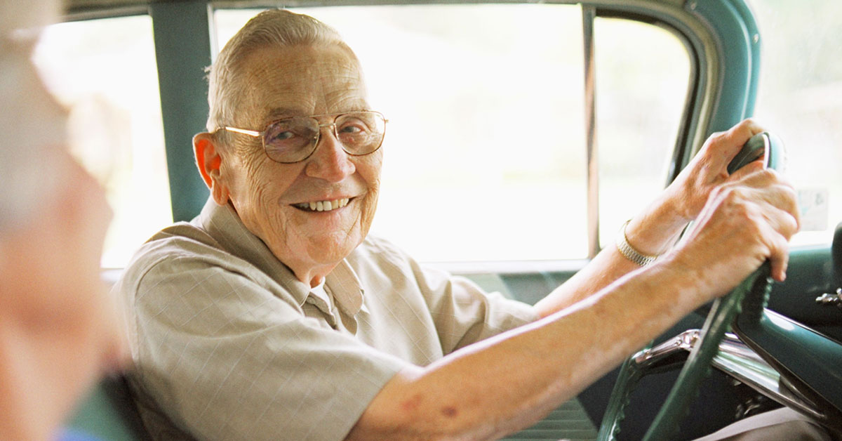 Photo Of Seniors Driving. Can They Meet Medicare's Definition Of Homebound?
