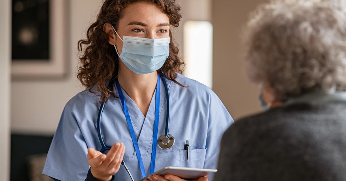 A Home Health Nurse Providing Transitional Care Management